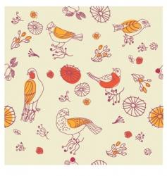 birds seamless pattern vector image