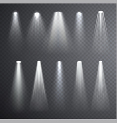 bright white light beam glowing light effects vector image