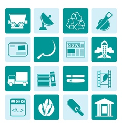 One tone Business and industry icons vector image vector image