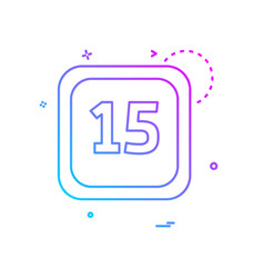 15 date calender icon design vector image