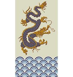 2012 china dragon water year vector