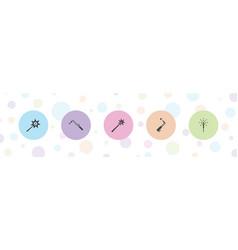 5 burning icons vector