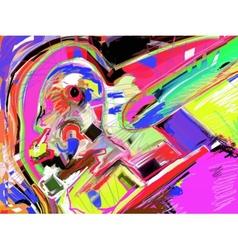 Abstract art digital painting vector