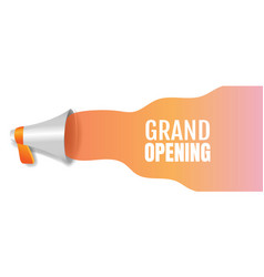 Announcement grand opening poster with text vector