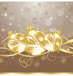 Background with christmas balls and tinsel - vector