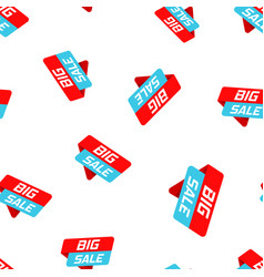 big sale banner badge icon seamless pattern vector image