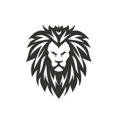 black lion symbol on white background vector image