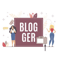 Blogger appearance for different subscriber type vector