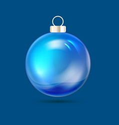 blue fir tree toy merry christmas card over vector image