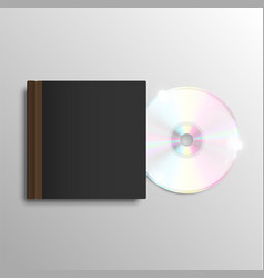 brown cd case vector image