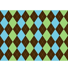 Brown green blue argyle seamless pattern vector