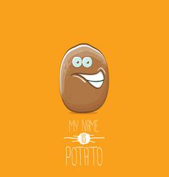 Brown potato cartoon character isolated on vector