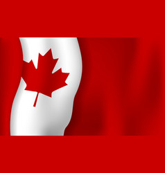 canada day banner background design of flag with vector image