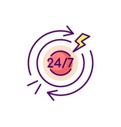 Chronic abdominal pain rgb color icon vector