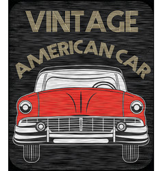 Classic garage american car vector