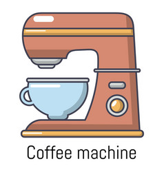 coffee machine icon cartoon style vector image