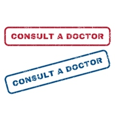 Consult a Doctor Rubber Stamps vector