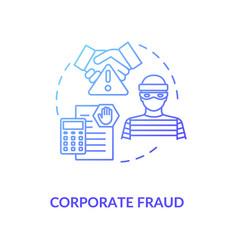 Corporate fraud concept icon vector