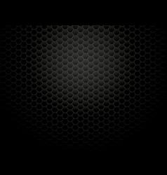 Dark metal hexagon background vector
