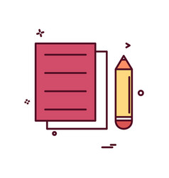 document pencil icon design vector image