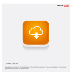 download icon orange abstract web button vector image