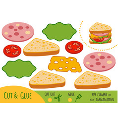 education paper game for children sandwich vector image