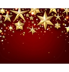 Festive starry background vector