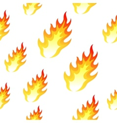 Flame fire seamless background vector image