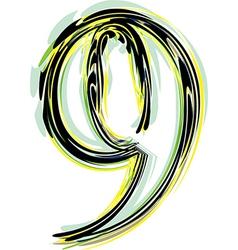 Font NUMBER 9 vector