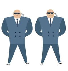 Formidable security professionals secret service vector