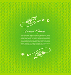 green calligraphic elements vector image