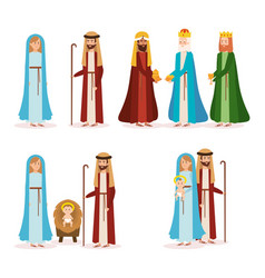 group of manger characters vector image