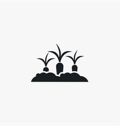 growing carrot icon simple gardening element vector image