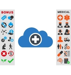 Health Care Cloud Icon vector