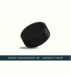 Hockey puck icon game equipment professional vector