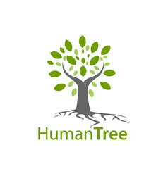 human tree logo concept design symbol graphic vector image