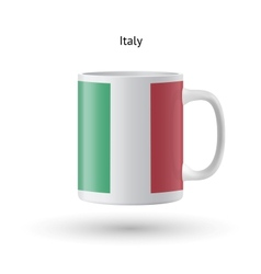 Italy flag souvenir mug on white background vector