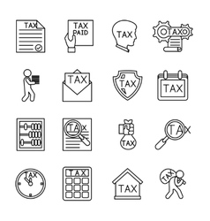 Line tax icons vector