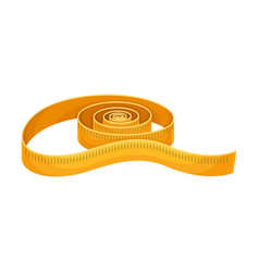 Measuring tape as sewing and tailoring equipment vector