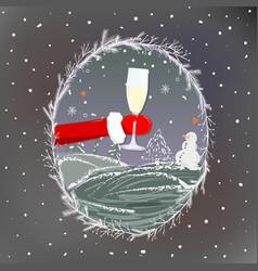 merry christmas funny christmas greeting card vector image