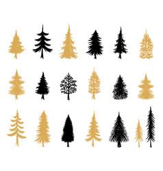 modern christmas trees scandinavian vector image