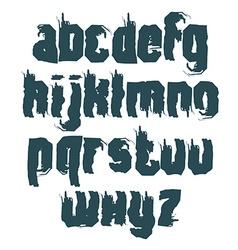 Monochrome calligraphic font handwritten vector