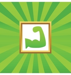 Muscular arm picture icon vector