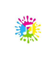 Music paint logo icon design vector