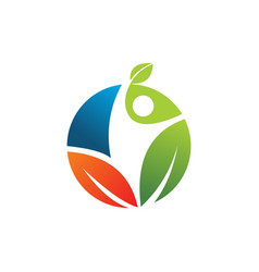 nature life style for natural healthy logo vector image
