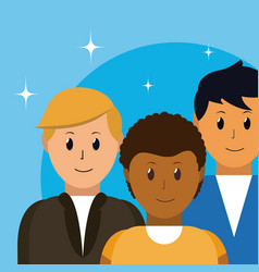 people avatar cartoon vector image