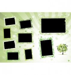 Photo album page vector