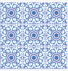 portuguese floor tiles design seamless pattern vector image