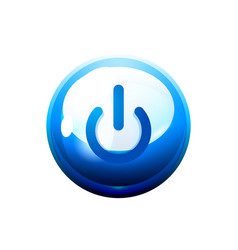 power button blue icon start symbol vector image