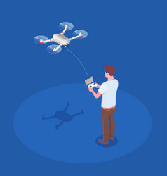 remote controlled quadrocopter composition vector image
